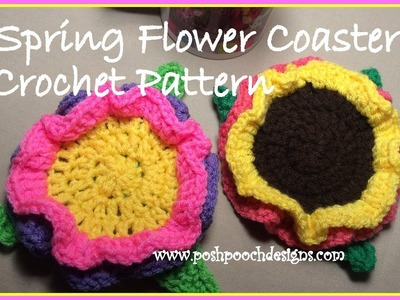 Spring Flower Coaster Crochet Pattern