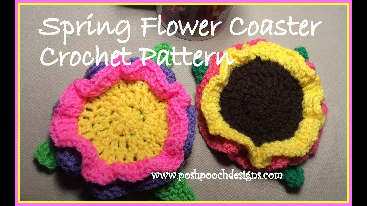 Spring Flower Coaster Crochet Pattern