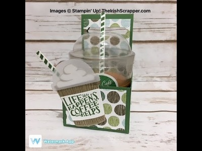 Stampin' Up! Coffee Cafe Candle Holder Episode 200
