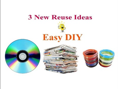 3 New Amazing Recycle - Reuse Craft Ideas. DIY Newspaper craft.  Best Out Of Waste