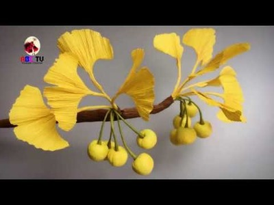 ABC TV | How To Make Ginkgo Biloba From Crepe Paper - Craft Tutorial