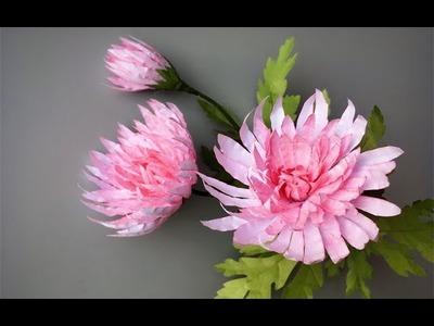 ABC TV | How To Make Pink Chrysanthemum Flower From Printer Paper - Craft Tutorial