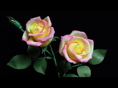 Craft Abc Tv How To Make Rose Paper Flower From Crepe Paper