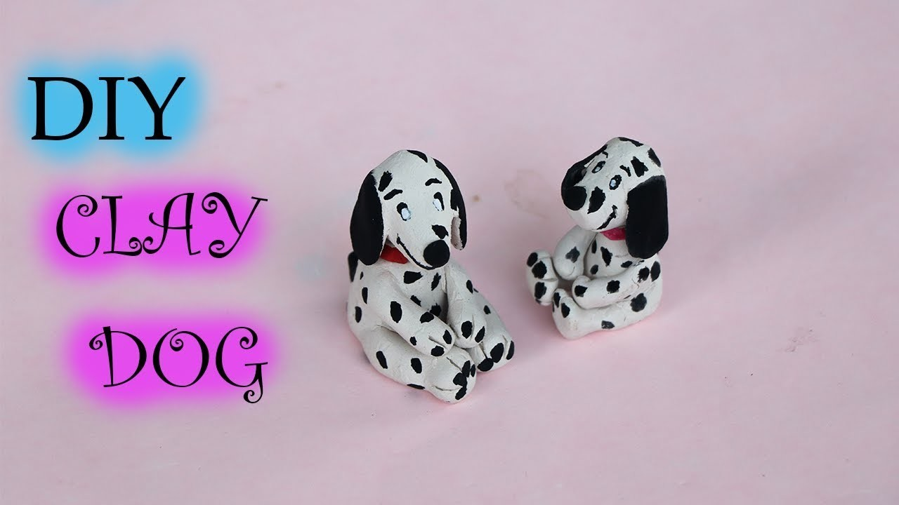 AIR DRY CLAY  TUTORIAL  - HOW TO MAKE  A DOG | DIY CLAY  DOG MINIATURE |