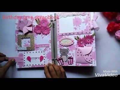 Art and Craft - Birthday love mini scrapbook Part 1