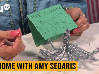 At Home Amy Sedaris Craft Tutorial: Pipe Cleaner Spiders | truTV