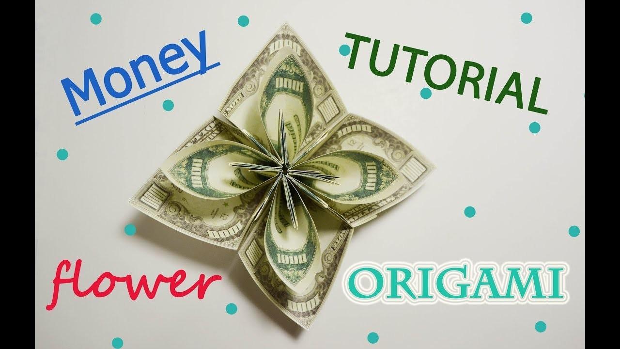 Big Amazing Money Flower Origami Dollar Tutorial Diy Folded No Glue