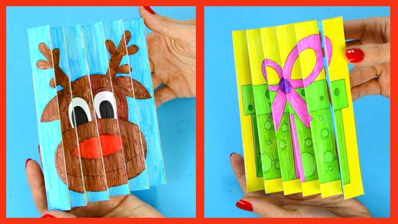 Christmas Agamograph Template Craft for Kids