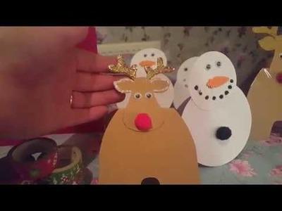 Christmas cards  - kids craft idea - using many items from Poundland !