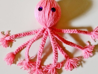 Christmas crafts, Woolen Fish Craft,  How to make octopus fish, Merry Christmas