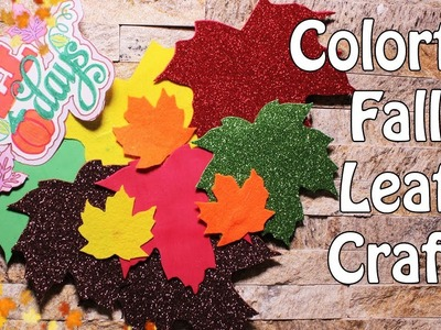 Colorful Fall Leaf Craft | How To Make Wall Wreath For Fall | Fall Decor