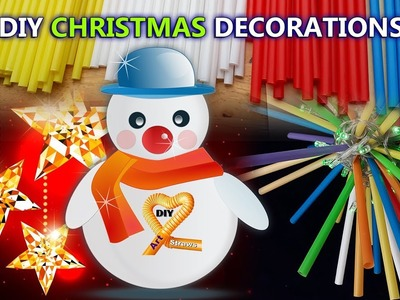 Craft Ideas for Christmas Decorations-5 DIY Projects for Christmas out of straw