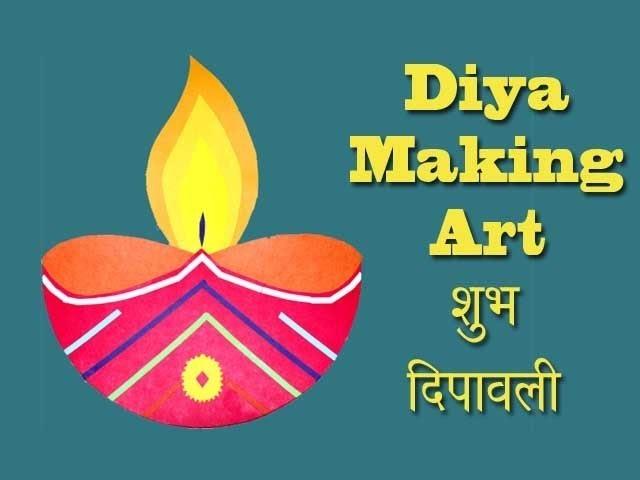 diwali diya making for creative kids school project art and craft