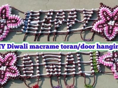 Diwali Macrame toran tutorial(design no5). DIY handmade macrame toran.door hanging.Educational power