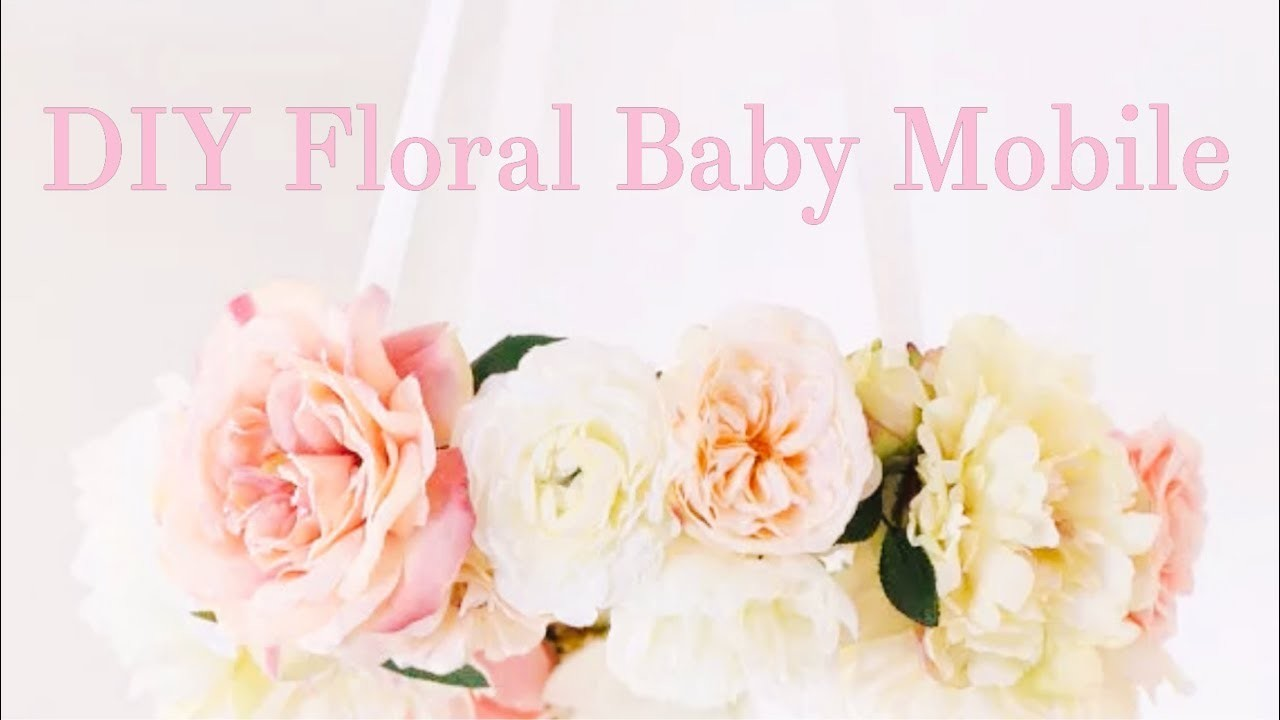 DIY Affordable Floral Baby Mobile! Shabby Chic Nursery Decor Tutorial
