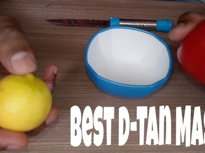 DIY Best D-Tan with Lemon & Tomato | Face Pack for Men & Women | BILAL IBRAHIM