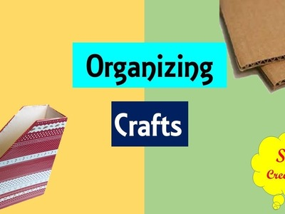 Diy | Best Out of waste organizing crafts | how to make file holder | magazine holder from cardboard