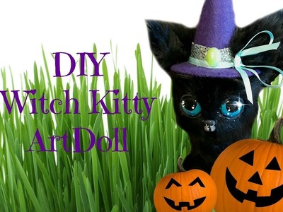 DIY Black Kitten Witch ArtDoll Tutorial