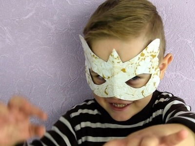 DIY Carnival Mask on Halloween for kids and for adults Tutorial