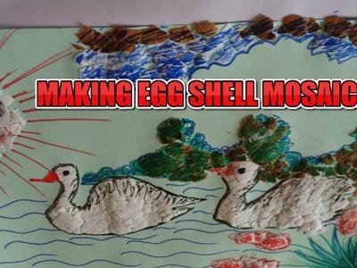 DIY Craft idea||How to Make Egg Shell Art||Egg Shell Mosaic||Amazing Handicraft|