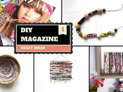 DIY Creative Magazine Projects & Crafts | Recycled Magazines Art Craft Ideas | by Fluffy Hedgehog