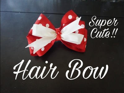 DIY: Cute Hair Bow || Quick and Easy Tutorial || Mini Bowdabra