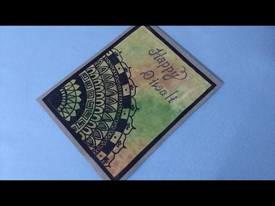 DIY Diwali card making idea : simple and beautiful diwali card tutorial