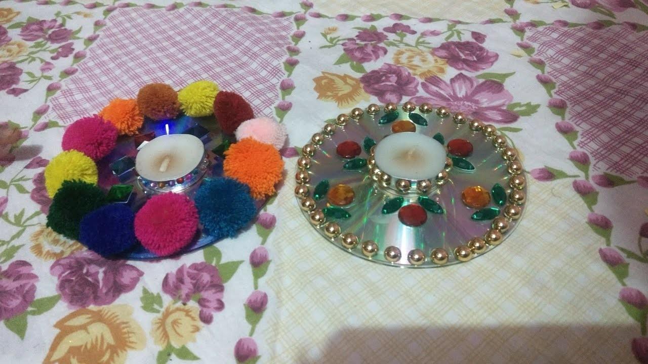 Diy diwali decoration ideas room decor ideas for Recycled room decoration crafts