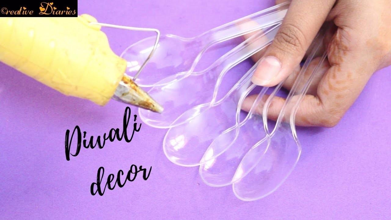 Diy Diwali Decoration With Plastic Spoon Idea I Easy Diwali Craft I