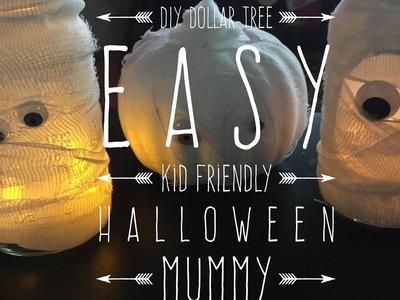 DIY Dollar Tree Easy Kid Friendly Halloween Mummy