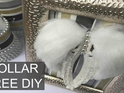 DIY | Dollar Tree Wall Decor Idea | Christmas Craft
