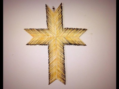 DIY | Easy Cross Craft | Made with Matchstick | X-Mas. Wall Mat Decoration |