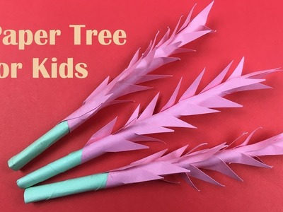 DIY Easy Small Paper Tree for Kids - Handicraft Tutorial | How to Make a Simple Tree - DIY Paper