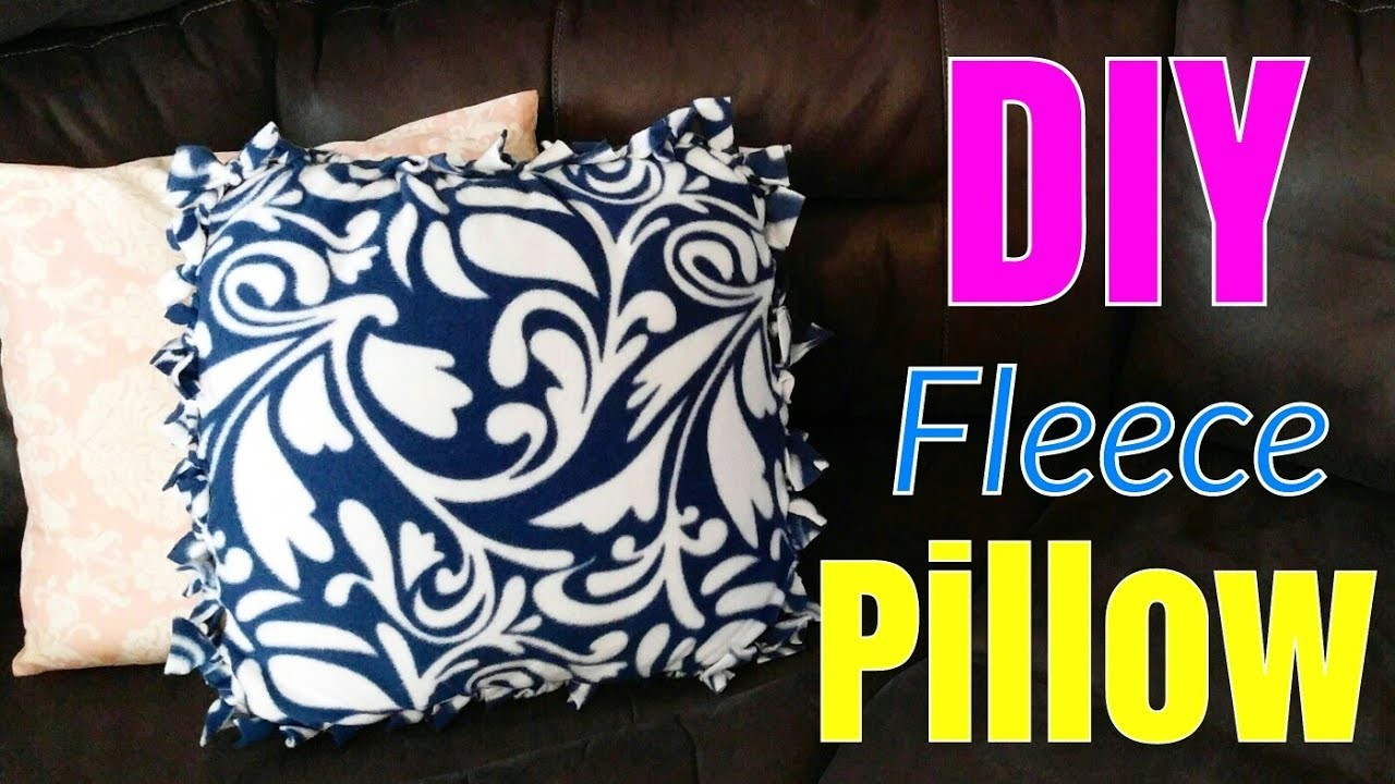 diy fleece pillow tutorial throw pillow case tutorial no sew pillow. Black Bedroom Furniture Sets. Home Design Ideas