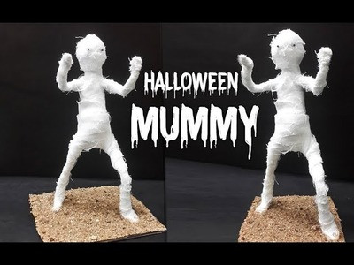 DIY Halloween Mummy Prop | Spooky Halloween Craft | How to Make Easy Halloween Craft