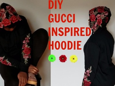 DIY.HOW TO: GUCCI INSPIRED HOODIE( WORN BY KYLIE JENNER)