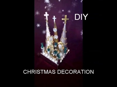 DIY.HOW TO MAKE A BEAUTIFUL  CHRISTMAS  TREE WITH  FOIL PAPER.SCHOOL PROJECT.