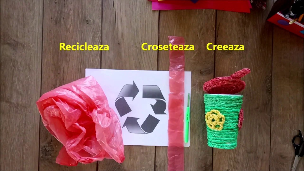 DIY How to make a mini decorative basket using plastic bags tutorial |Best out of waste |