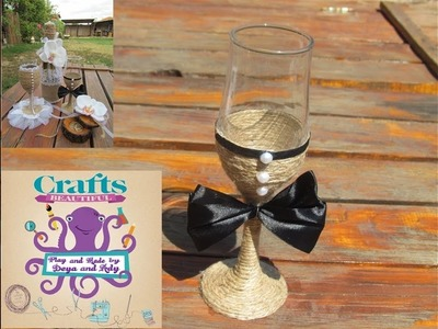 DIY: How to make decoration on a ritual glass for the groom TUTORIAL
