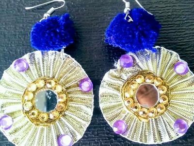DIY jewellery. gota and pom pom earrings made easy