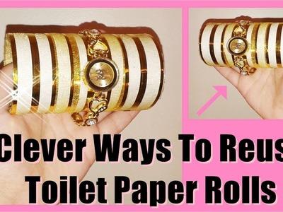 DIY Jewelry Organizers I Toilet Paper Roll Craft Ideas