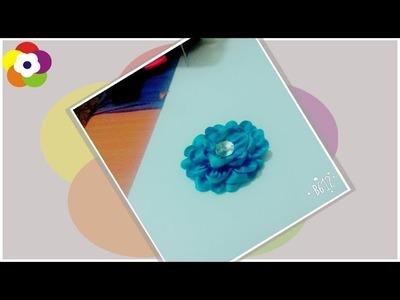 DIY Kanzashi Flower - How to Make Satin Ribbon Flower + Tutorial !
