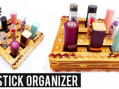 DIY Lipstick Organizer - Simple Tutorial With Popsicle Sticks - Pop Stick Craft