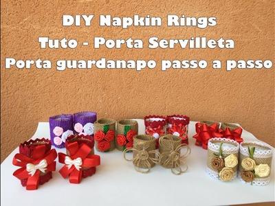 DIY Napkin Ring, Tutorial porta servilleta - Passo a passo porta guardanapo