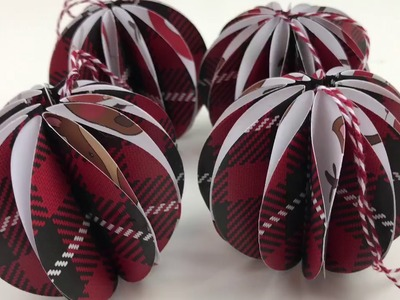 DIY PAPER CRAFT CHRISTMAS BAUBLES