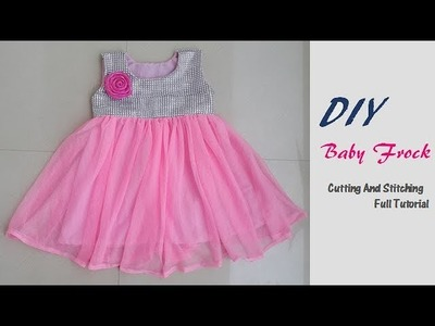 DIY Party Wear Fancy Baby Frock Cutting And Stitching Full tutorial