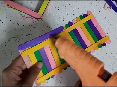 DIY Popsicle Sticks Craft For Room Decoration | How To | CraftLas