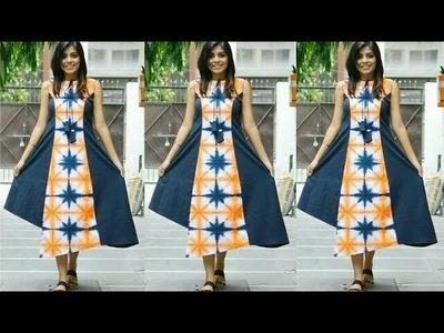 (DIY) Princess cut Asymmetrical Hemline Designer Tunic.Dress (Full Tutorial)
