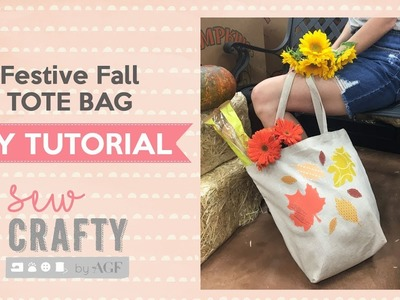 DIY Reusable Bags- Festive Fall Tote Tutorial