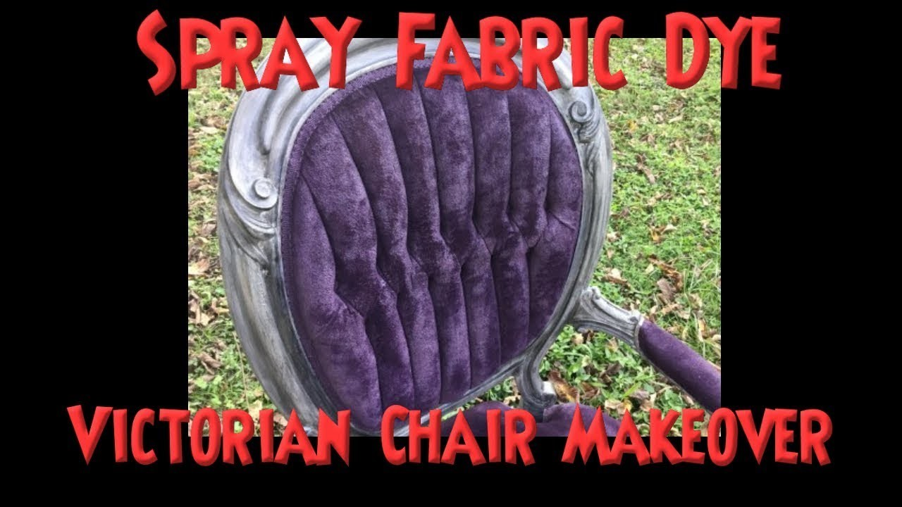 DIY Spray Dye Upholstery Like a Pro! *It Cost $20 to Dye This Chair*